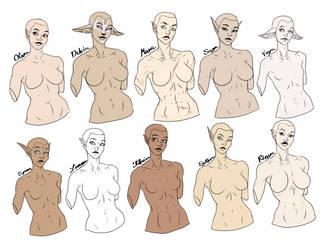 Female OCs - Colored by SythraNightshade