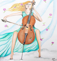 Cello happiness by TheHopelessDreamer
