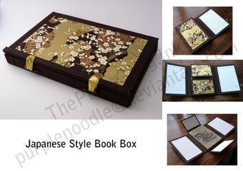 Japanese Style Book Box by purplenoodles