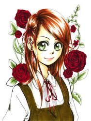 Red Flower by Hasuko-SugarBerries