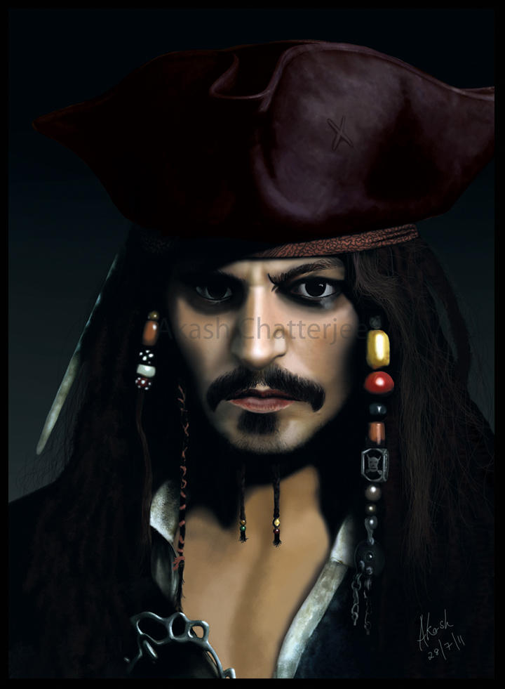 Captain jack sparrow by cakash