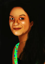 another potrait by cakash