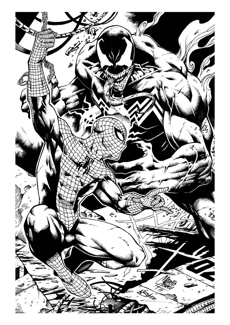 Spidey Vs Venom by KernoWarrior
