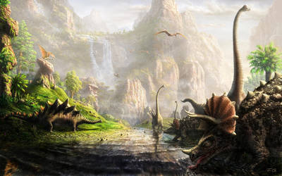 The land of dinosaurs by Fel-X