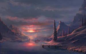 Winter sunset by Fel-X