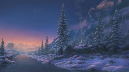 Frozen river by Fel-X