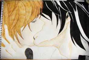 Kiss Me L. by MyPassionanDeath
