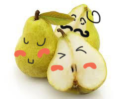 Shy pears by Eniell