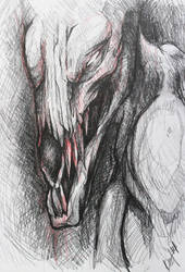 Horse Skull sketch by TheSonoftheDarkness