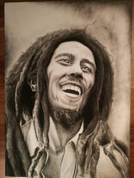 Bob Marley in charcoal by 404-NameNotFound