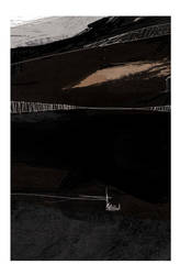 Detail III of abstract in black and brown by Cr8ivDigitalPainting
