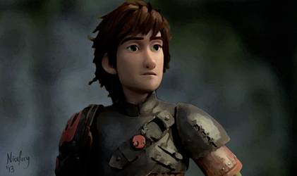 Hiccup with Armor by nicefury