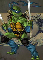 TMNT-the blue wave- by Lady-Valiant