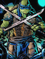 TMNT 2014: Leonardo by Lady-Valiant