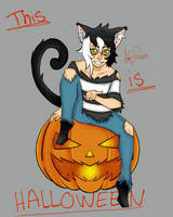 This is Halloween Kinda by Tealmealart