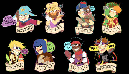 South Park the Stick of Truth stickers by Feri-Marife