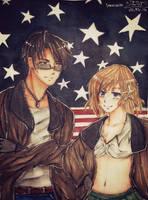 2p! America  Nyo! America (Half Body Commission) by SakuraJenz