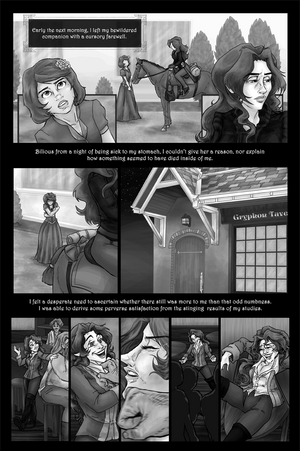 Greyscale comic page by Farthingale