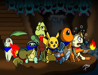 Pokemon Mystery Dungeon Fanart by Arbok-X