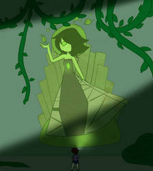 Green Diamond Mural by Steampoweredche
