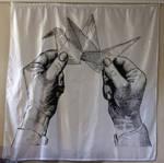 Big Crane Hands Curtain by truemarmalade