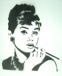 Audrey Hepburn by truemarmalade