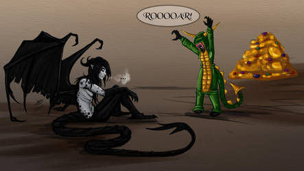 Commission - Imma dragon! by AtropaGrimm