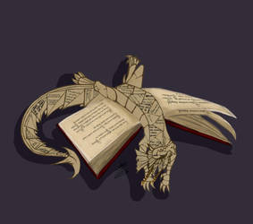 Bookwyrm by AtropaGrimm