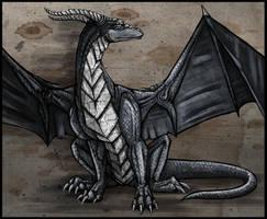 Blue dragon by AtropaGrimm