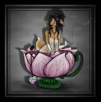 Doe in tea by AtropaGrimm