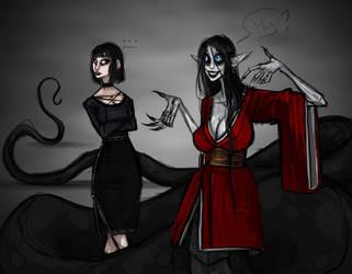 Goth girl by AtropaGrimm