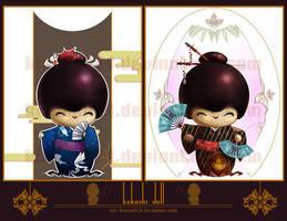Aiah's Kokeshi Dolls by kieren024