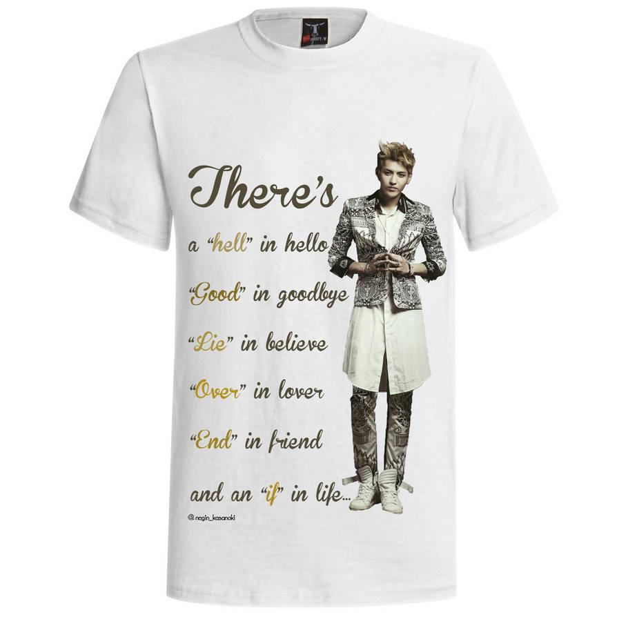 Exo Kris T Shirt Design By Yuka55202565 On Deviantart