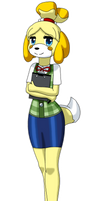 FanArt ~ Isabelle, the puppy assistant by TwiliGravity