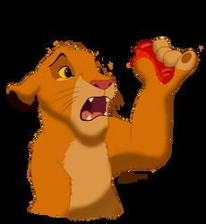 Fan Art - Small Simba by Venlige