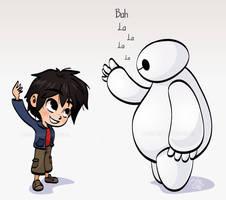 Hiro and Baymax - Fist Bump by Malycia