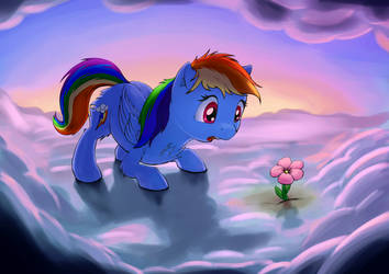 A flower? IN THE CLOUDS? by Shaliwolf