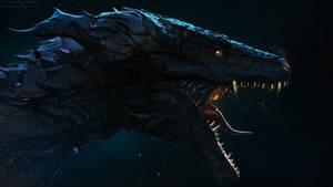 Darkeater Midir - Dark Souls Fanart by LuboxArt