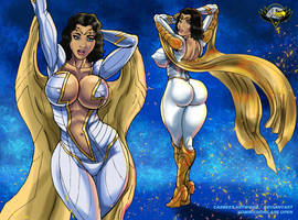 Thunder Woman  Sexy pin up by CarbertArtwork