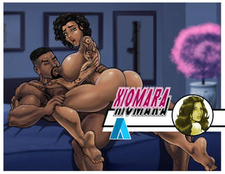 Xiomara and Solo the end of the night by CarbertArtwork