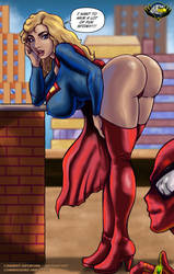 Supergirl and Spiderman    by CarbertArtwork
