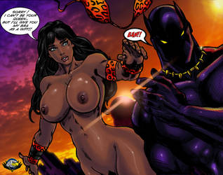 Barocca and Black Panther playing by CarbertArtwork