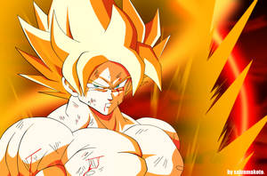 GOKU The Super Saiyan by salvamakoto