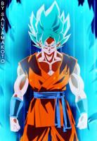 GOKU - super saiyajin azul by salvamakoto