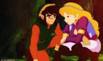 Link and Zelda (excuse me, princess!!) by salvamakoto