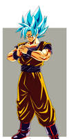 Son Goku super saiyan Blue by salvamakoto