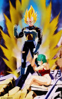 Vegeta and bulma by salvamakoto