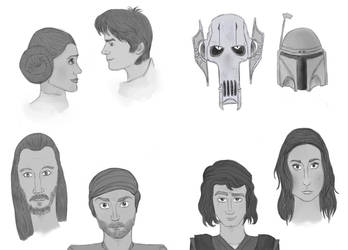 Star Wars Sketches by Elixa29
