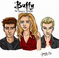 Buffy, Angel, and Spike by ShadowedFate
