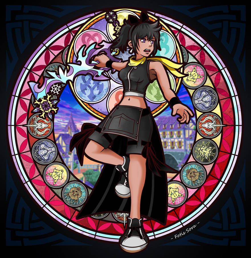 Kingdom Hearts union X - Stained Glass by fotis-sora
